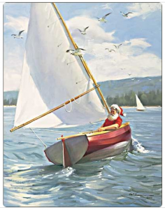 Santa Sailing Dinghy